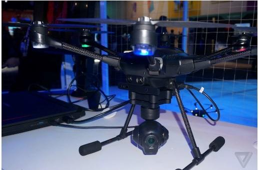CES 2016: دِرونی شش پرهای مجهز به حسگر مافوق صوت برای شناسایی موانع + تصویر