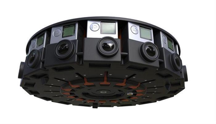 سیستم فیلمبرداری 16 دوربینه و زاویه 360 درجه برای واقعیت مجازی گوگل