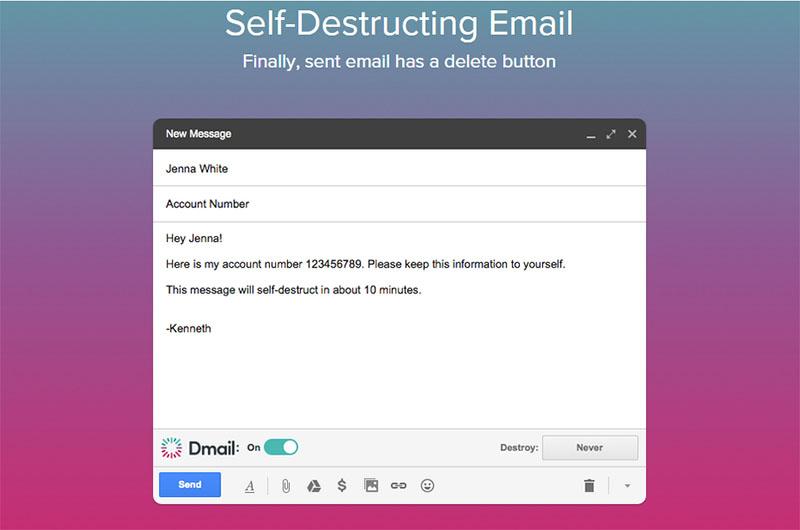 این افزونه را روی کروم نصب کنید تا ایمیلهای خود-مخرب بفرستید!