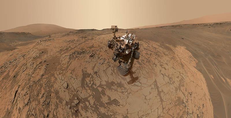 سلفی روی مریخ