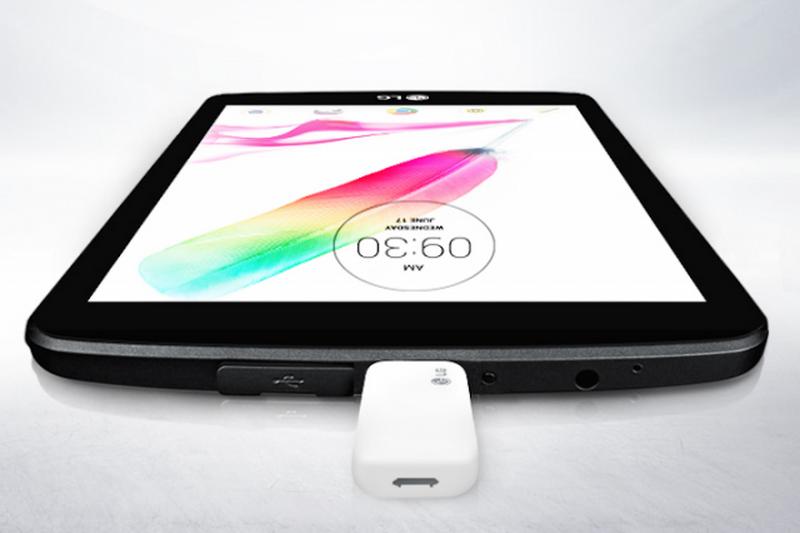 تبلت 8 اینچی جدید الجی به پورت USB اندازه بزرگ مجهز است