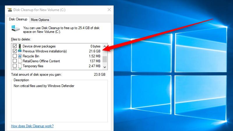 چرا باید بعد از بهروزرسانی نوامبرِ ویندوز 10؛ برنامه Disk Cleanup را اجرا کنیم؟