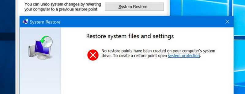 آموزش فعالسازی System Restore در ویندوز 10