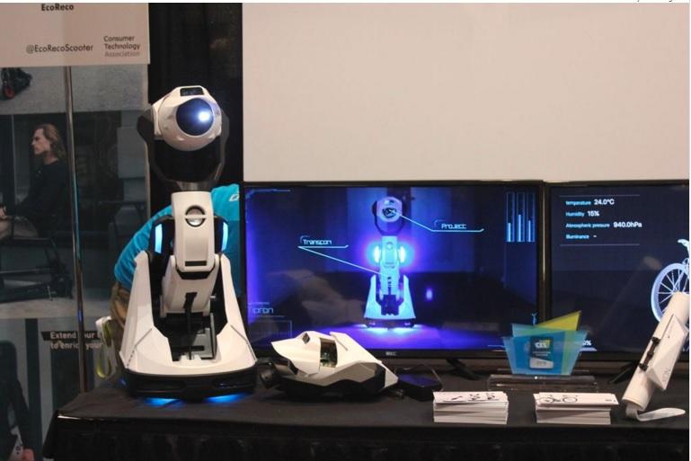 CES 2016: روبات پروژکتوری که راه میرود و تغییر شکل میدهد + عکس و فیلم