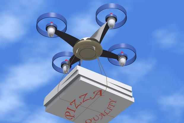 دِرونها سفارش پیتزای شما را درب منزل تحویل میدهند!