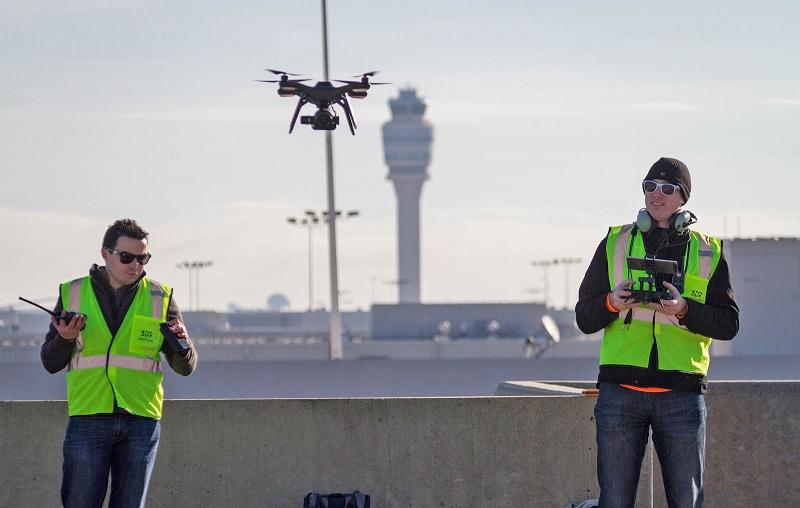 دِرونها به توسعه یکی از پرازدحامترین فرودگاههای دنیا کمک میکنند