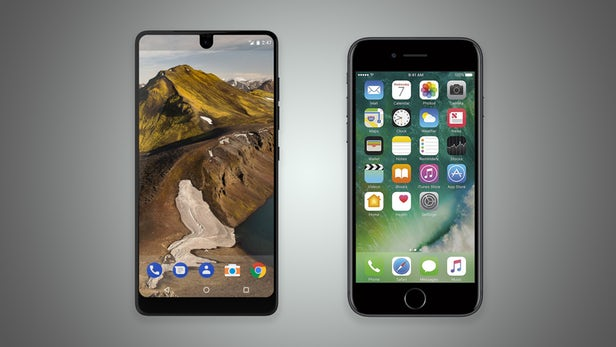 مقایسه تصویری اسنشال فون و آیفون 7 اپل + عکس