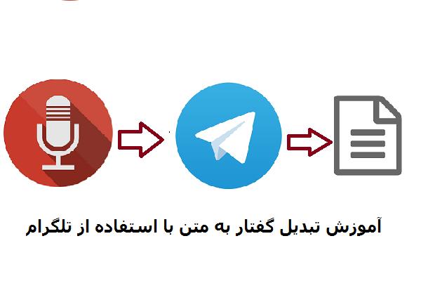 چگونه با استفاده از تلگرام گفتار را به متن تبدیل کنیم؟