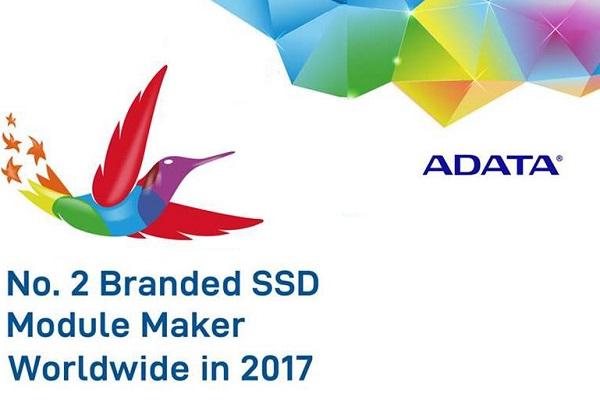ADATA رتبه دوم فروش رم و SSD در جهان را از آن خود کرد