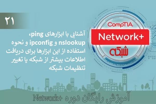 آموزش رایگان دوره نتورکپلاس (+Network) آشنایی با فرمانهای ping و nslookup (بخش 21 )