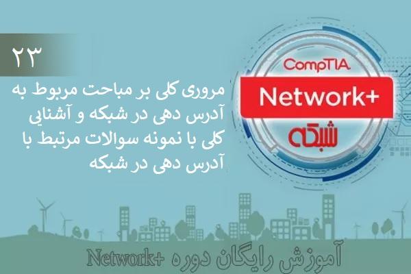 آموزش رایگان دوره نتورکپلاس (+Network) آشنایی با نمونه سوالات امتحانی آدرسدهی در شبکه  (بخش 23 )