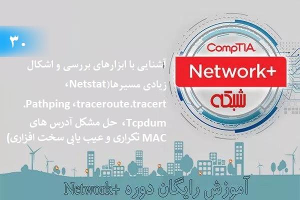 آموزش رایگان دوره نتورکپلاس (+Network) ابزارهای اشکالزدایی مسیرها، (بخش 30 )