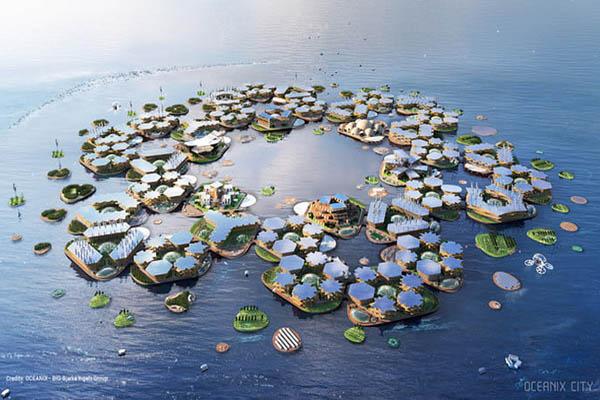 شهرهای شناور هوشمند، برای زمانی که زمین زیر آب میرود