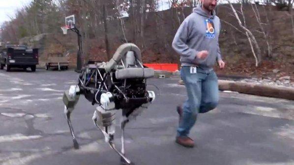 به این روبات لگد بزنید!