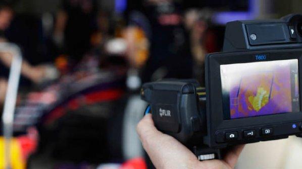 دوربینهای حرارتی در مسابقات فرمول یک