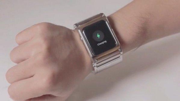 با این دستبند هیچوقت شارژ باطری ساعت اپل شما تمام نمیشود + ویدیو