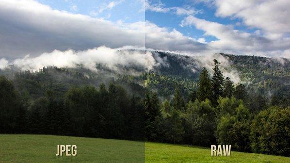 تفاوت عکسهای RAW و JPEG