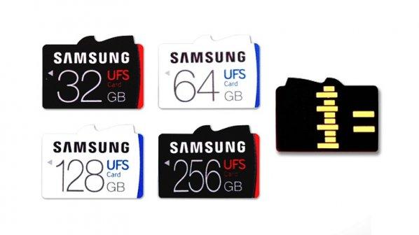 سامسونگ اولین کارتهای حافظه فوق سریع UFS را معرفی کرد