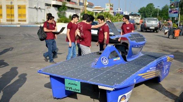 خودروی خورشیدی ایرانی غزال 3 به جاده زد