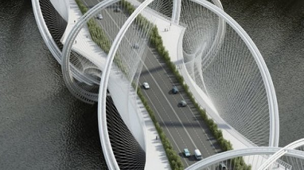 استفاده از طرح حقلههای المپیک برای طراحی یک پل زیبا در چین