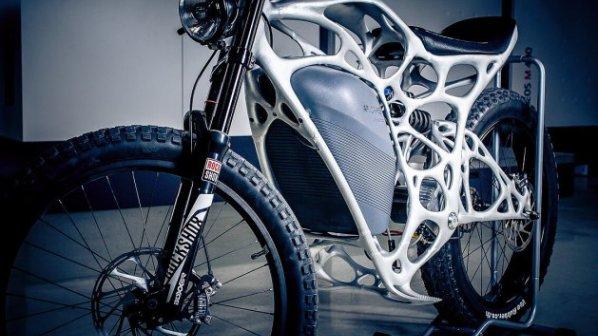 گالری عکس: نخستین موتورسیکلت برقی چاپ سهبعدی در دنیا