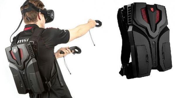 با کوله پشتی واقعیت مجازی MSI آزادانه بازی کنید!