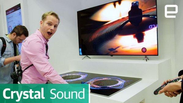 نمایشگر 65 اینچ OLED الجی نیازی به بلندگو ندارد