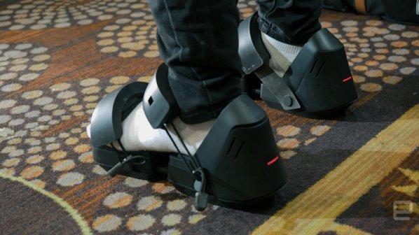 تماشا کنید: کفشهای ویژه واقعیت مجازی در CES 2017