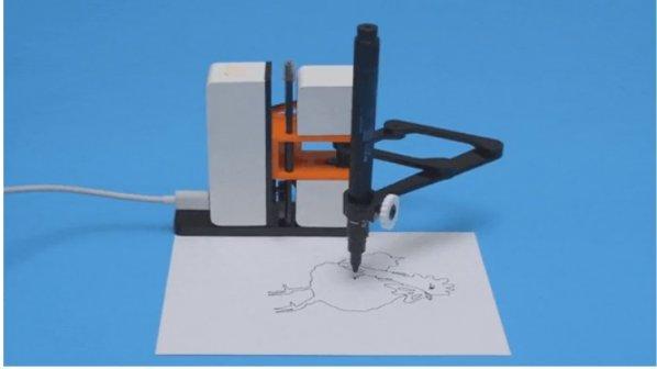 تماشا کنید: روبات نقاش کوچکی که جادو میکند