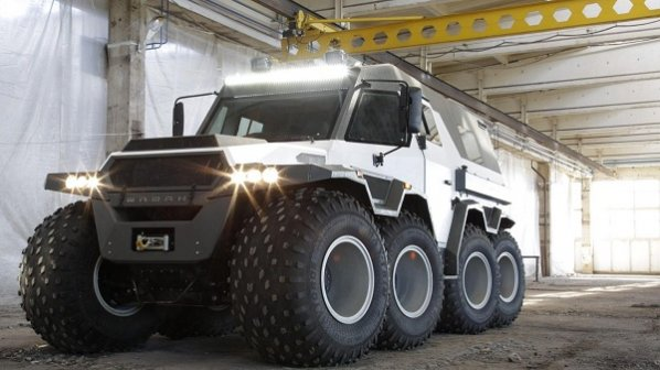 تماشا کنید: خودروی ۸ چرخ روسی برای رانندگی در کوهستان و دریا