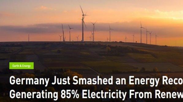 آلمان در زمینه تولید انرژی از منابع تجدیدپذیر رکورددار است