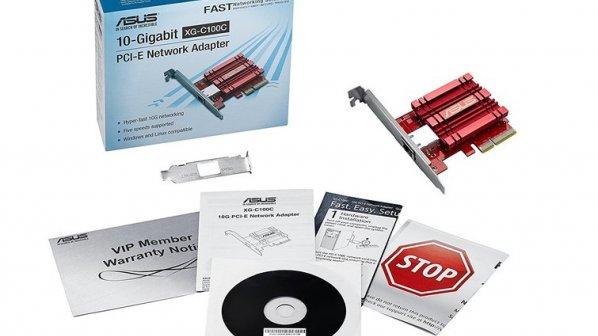 کارت شبکه اترنت 10 گیگابیت ایسوس با قیمت زیر 100 دلار معرفی شد