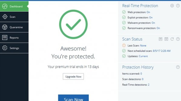 MalwareBytes ایدهآلترین مکمل برای ضدویروس دیفندر ویندوز 10 است