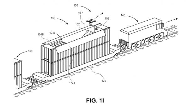 آمازون در فکر ساخت ایستگاههای متحرک پهپاد روی قطار و کشتی