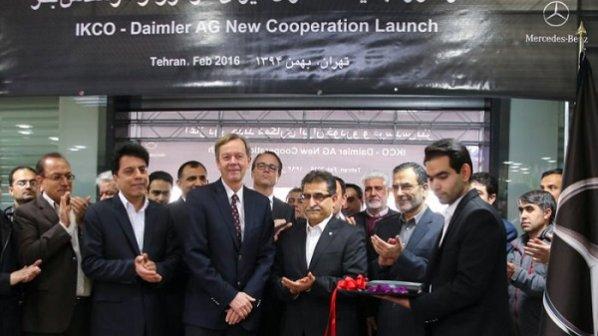 امضای قرارداد ایران خودرو با مرسدس بنز