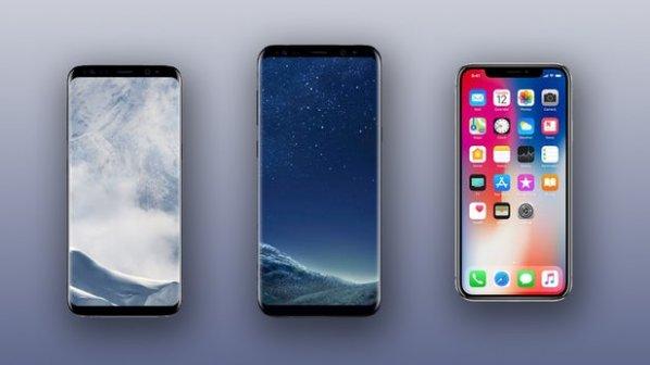 مقایسه تصویری آیفون X، گلکسی S8 و گلکسی S8 پلاس