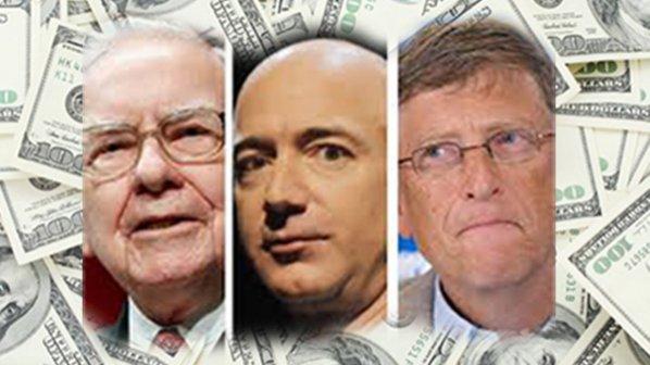 ثروت بیل گیتس، جف بزوس و وارن بافت بیش از ثروت نیمی از آمریکاییها