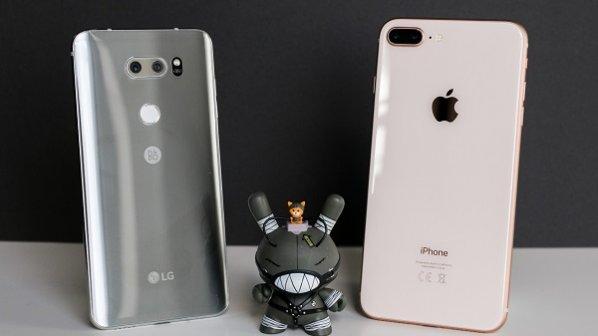 راهنمای خرید: مقایسه آیفون 8 پلاس اپل با الجی وی 30