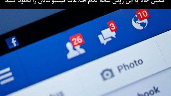 آرشیو تمام اطلاعات اکانت فیسبوکتان را به سادگی دانلود کنید