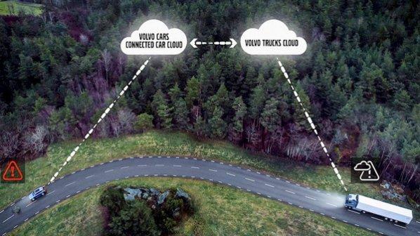 اتومبیل و کامیونهای ولوو هشدارهای ترافیکی را با یک دیگر به اشتراک میگذارند