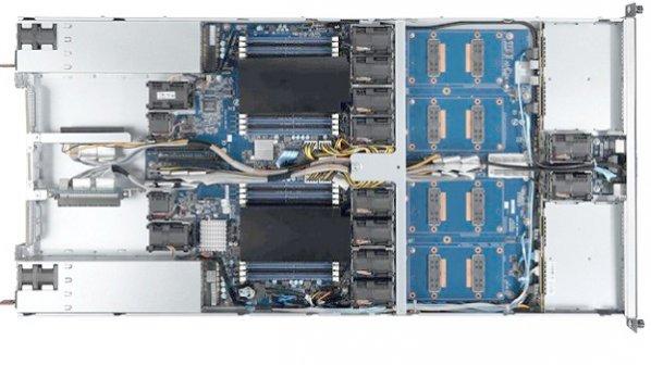 سرور 1U جدید گیگابایت با 4 پردازنده گرافیکی انویدیا