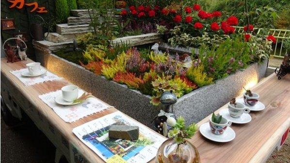 گالری عکس: باغچههای کوچک و زیبا پشت کامیون ژاپنیها