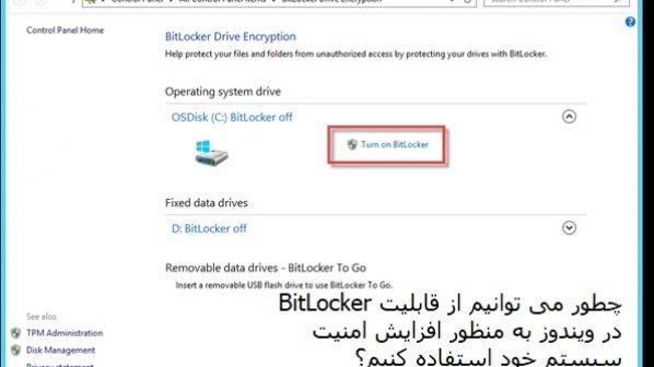چطور میتوانیم از مکانیزم امنیتی Bitlocker روی ویندوز استفاده کنیم؟