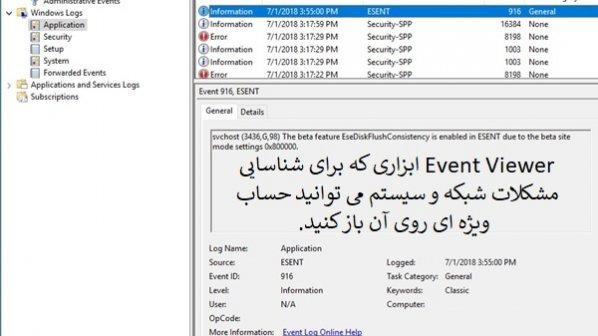 راهنمای جامع بهکارگیری Event Viewer برای شناسایی مشکلات سیستم (بخش اول)