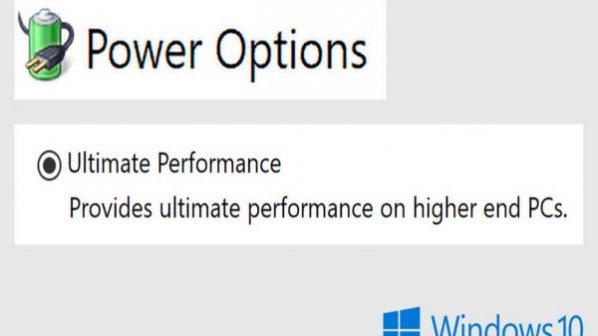 چگونه Ultimate Performance Power Plan را در ویندوز 10 فعال کنیم