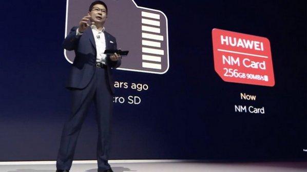 هواوی از یک کارت ذخیره سازی جدید به نام NM card رونمایی کرد