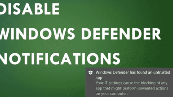 چگونه اعلانهای ویندز دیفندر را در ویندوز 10 غیرفعال کنیم؟