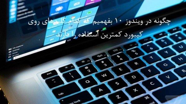 در ویندوز 10 کدام کلیدها روی کیبورد کمترین استفاده را دارند