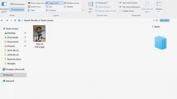 چگونه در ویندوز 10 روی فایلها تگ بگذاریم؟
