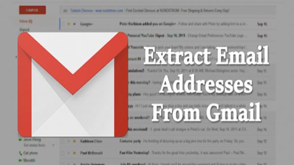 چگونه آدرسهای ایمیل را در جیمیل استخراج کنیم؟
